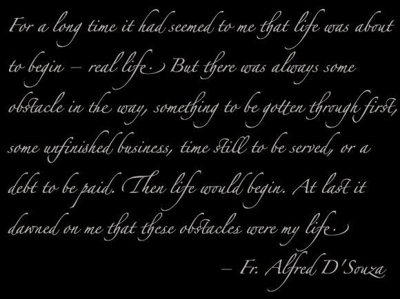 Quote by Fr. Alfred D'Souza