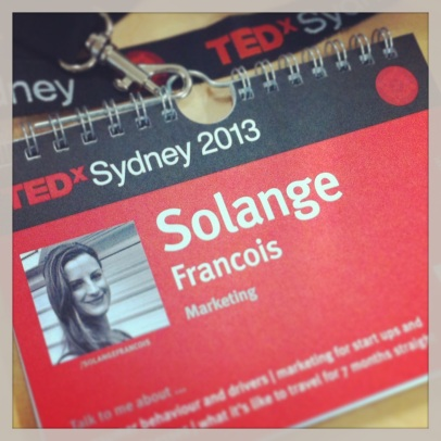 TEDxSydney name badge