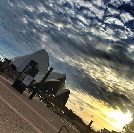 Sydney Opera House on TEDx morning